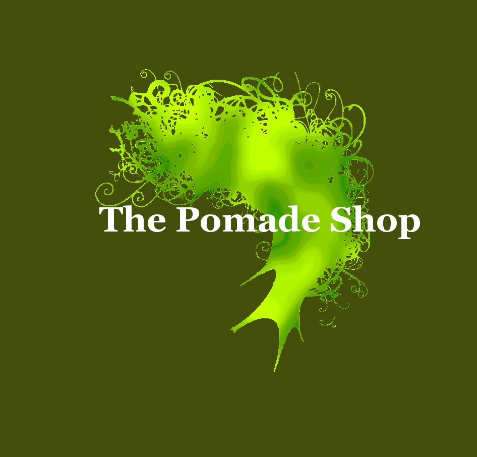 The Pomade Shop green logo 3